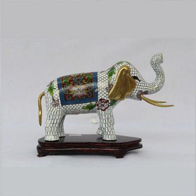 Ελέφαντας Λευκός Cloisonne