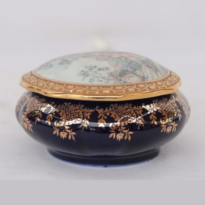 Κουτάκι Limoges με φύλλο χρυσού 22 καρ.