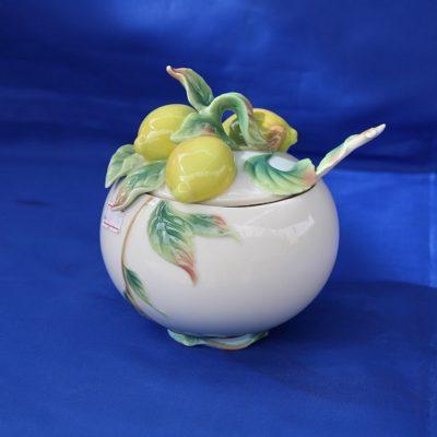 Μελιέρα πορσελάνης FRANZ με λεμόνια