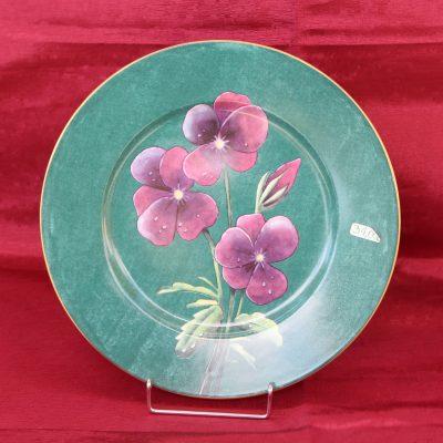 Πιάτο HENRIETTE με μοβ λουλούδια