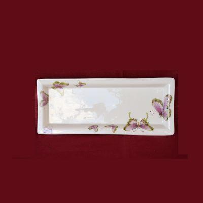Μικρός δίσκος κέικ απο πορσελάνη Κίνας με πεταλούδες