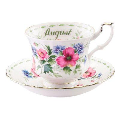 Φλιτζάνι τσαγιού Royal Albert Flower of the month Αύγουστος