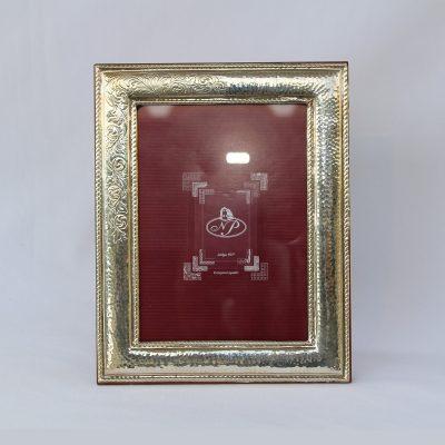 Ασημένια Κορνίζα με ρομαντικό σχέδιο από ελληνικό ασήμι