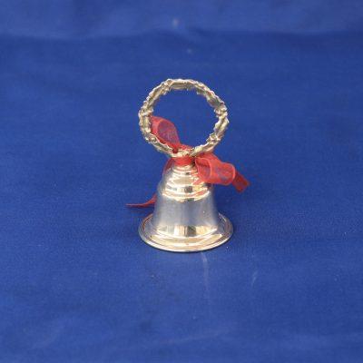 Ασημένια Μίνι καμπάνα με στεφάνι από ελληνικό ασήμι