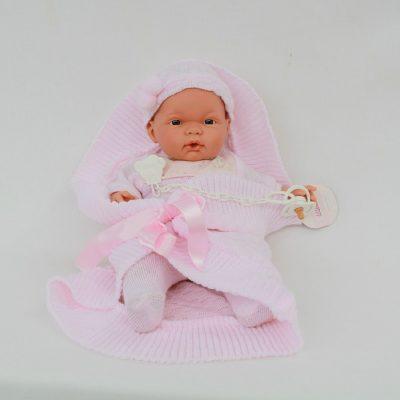 Ισπανική κούκλα βινυλίου μωρό ροζ 38 cm LIorens