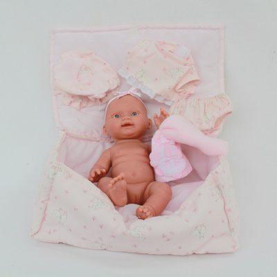 Ισπανική κούκλα βινυλίου μωρό ροζ 28 cm LIorens