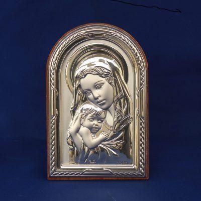 Παναγία βρεφοκρατούσα Εικόνα ασήμι Ιταλίας 925ο