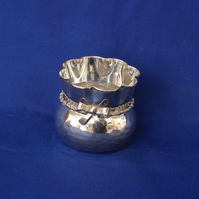 Πουγκάκι μικρό με φιόγκο από ελληνικό ασήμι 9250
