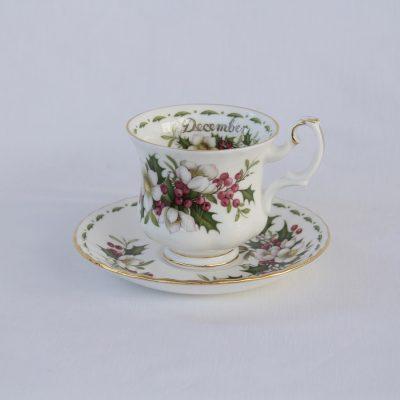 Royal Albert Flower of the month φλιτζάνι καφέ μήνας Δεκέμβριος