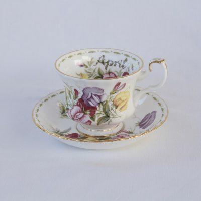 Royal Albert Flower of the month φλιτζάνι καφέ μήνας Απρίλιος
