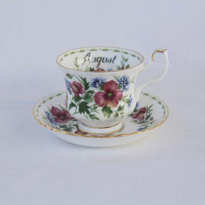 Royal Albert Flower of the month φλιτζάνι καφέ Αύγουστος