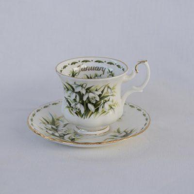Royal Albert Flower of the month φλιτζάνι καφέ Ιανουάριος