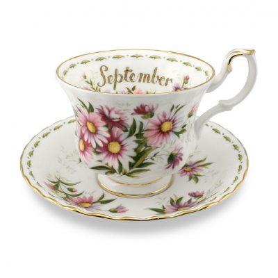 Royal Albert Flower of the month φλιτζάνι καφέ Σεπτέμβριος