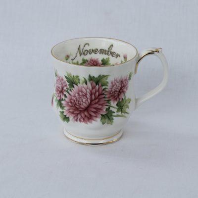 Royal Albert πορσελάνη Flower of the month κούπα Νοέμβριος