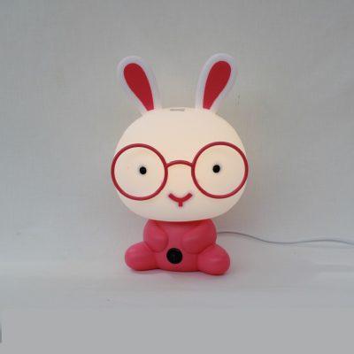 Παιδικό Φωτιστικό κουνελάκι ροζ, επιτραπέζιο σε μορφή κουνελάκι