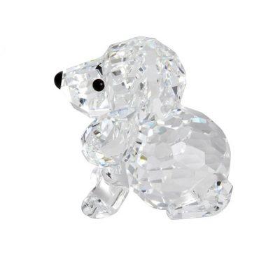 Κουτάβι καθισμένο Swarovski Silver Crystal 158 418