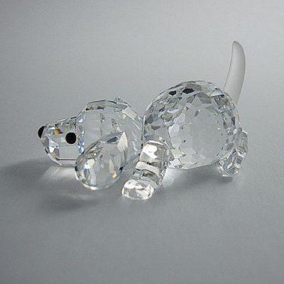 Κουτάβι που παίζει κρύσταλλο Swarovski Silver Crystal 172 296