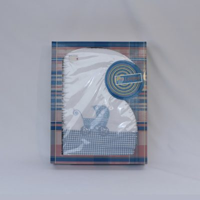 Παιδικές πετσέτες με σχέδιο καροτσάκι σιέλ σετ 2τεμαχίων