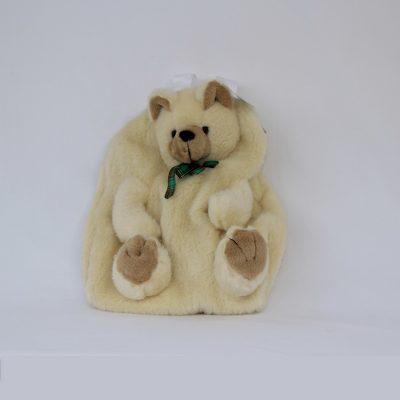 Παιδικό σακίδιο πλάτης σε σχήμα αρκουδάκι εκρού