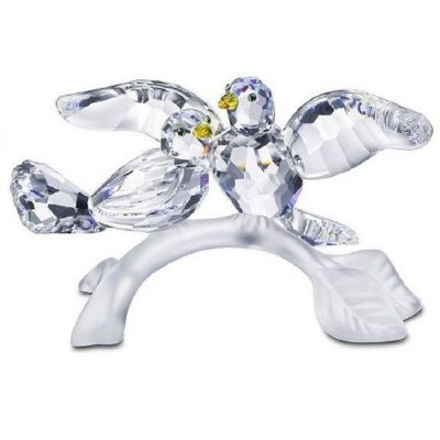 Ζευγάρι περιστέρια Swarovski Silver Crystal 657 378 turtledoves