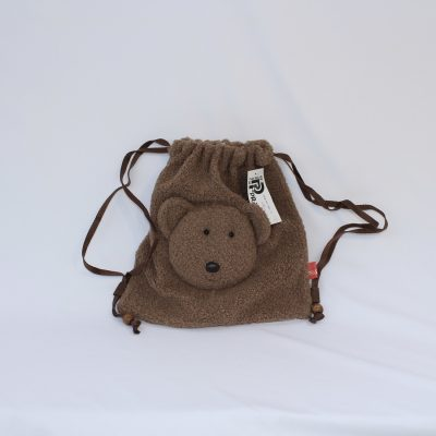 Τσάντα πουγκί σε σχήμα αρκουδάκι καφέ της εταιρείας Pratelli