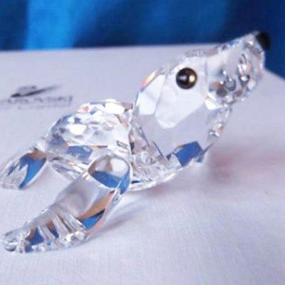Θαλάσσιο λιοντάρι μωρό Swarovski silver crystal