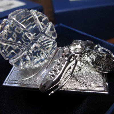Basketball trophy Swarovski Crystal Memories