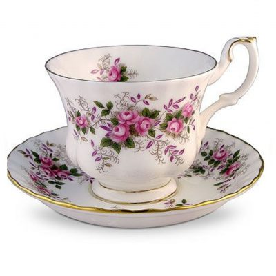 Royal Albert Old Lavender Rose 00130-131 Φλιτζάνι Τσαγιού με Πιατάκι