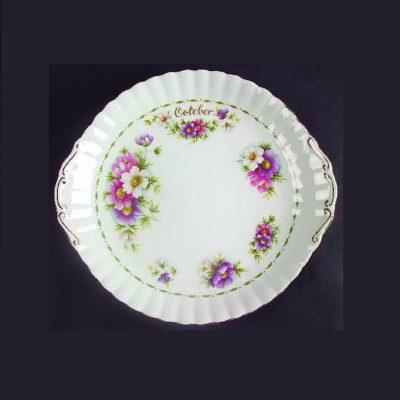 Πιατέλα κέικ Οκτώβριος Royal Albert Flower of the month
