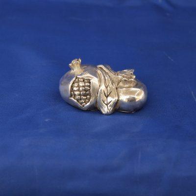 Ασημένια ρόδια μικρά για γούρι από Ελληνικό Ασήμι