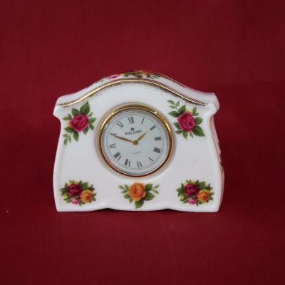 Επιτραπέζιο Ρολόι πορσελάνης Royal Albert Old Country Roses