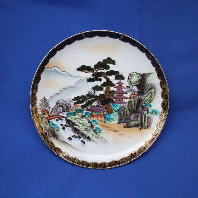 Πιάτο Ιαπωνίας Kutani (έργο τέχνης) ζωγραφισμένο στο χέρι