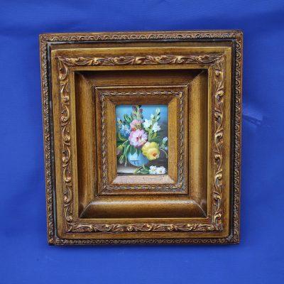 Βάζο με Λουλούδια χειροποίητο ξύλινο Καδράκι