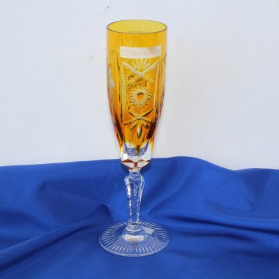 Ποτήρι Flute ούζου ή σαμπάνιας Κρύσταλλο Nachtmann (χρώμα Bernstein)