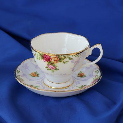 Rose Cameo Violet Φλυτζάνι-Πιάτο τσαγιού πορσελάνη Royal Albert