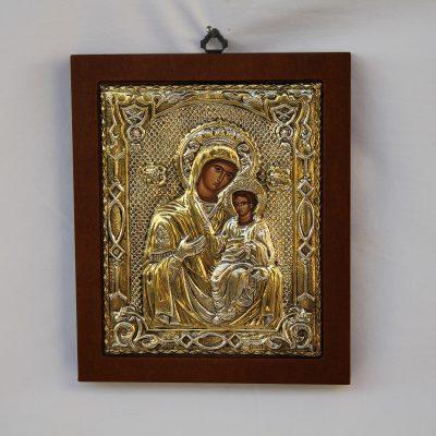 Εικόνα Παναγίας βρεφοκρατούσας από ελληνικό Ασήμι
