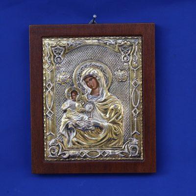 Εικόνα Παναγίας δεξιοκρατούσας απο Ελληνικό ασήμι