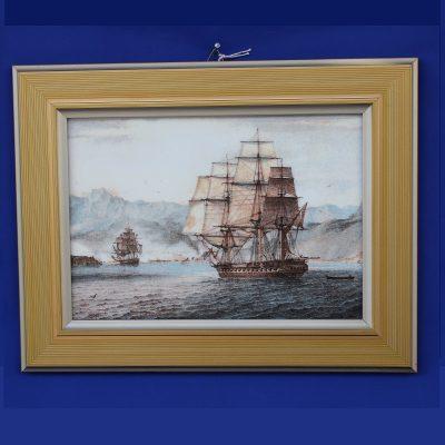 Πλοίο Scipion σε Γκραβούρα συλλεκτική απο πορσελάνη
