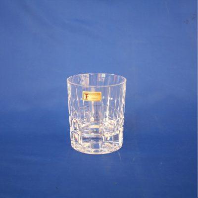 Ποτήρια Oυίσκι σε κρύσταλλο Ιταλίας Σχέδιο καρό 620