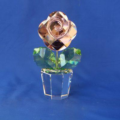 Ροζ τριαντάφυλλο Large Swarovski Crystal Moments