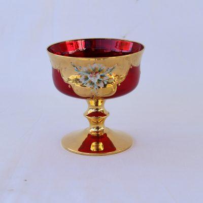 Κουπ Mourano κόκκινη μικρή με πόδι Κρύσταλλο Ιταλίας