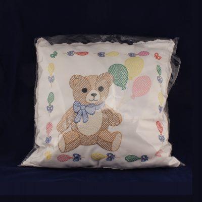 ΜΑΞΙΛΑΡΙ διακοσμητικό με αρκουδάκι κεντημένο