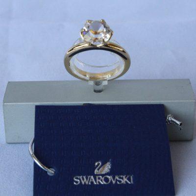 Δαχτυλίδι HARLEQUIN (GOLD) μέγεθος 52 Swarovski
