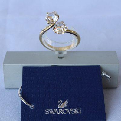 Δαχτυλίδι LUDMILLA (GOLD) μέγεθος60 κόσμημα Swarovski