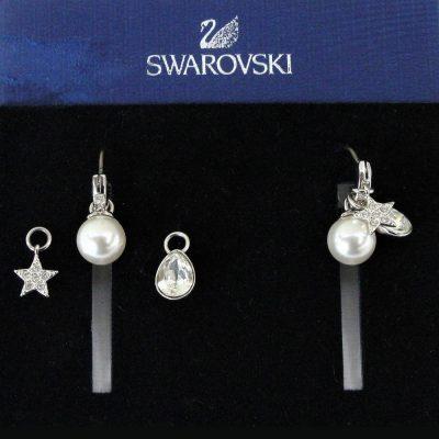 Σκουλαρίκια CANVAS HOOP ELEMENTS κόσμημα Swarovski