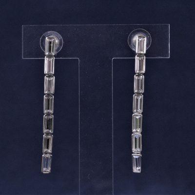Σκουλαρίκια PIERCED EARINGS LONG κόσμημα Swarovski