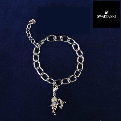 Charm Bracelet κόσμημα Swarovski Cupid Angel Charm