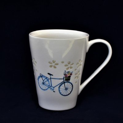 Μοντέρνα Κούπα από Διάτρητη Πορσελάνη με σχέδιο 'Ποδήλατο'