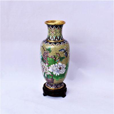 Βάζο Κίνας cloisone Μπεζ με λουλούδια πανέμορφα